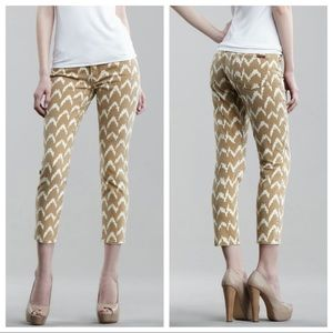 7 for all Mankind Ikat-Print Cropped Skinny Jeans